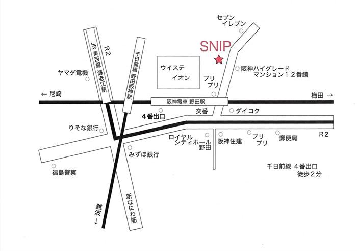 大阪市福島区野田阪神駅前美容室マップ